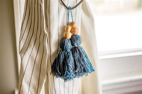 How To Make Tassel Curtain Tie Backs