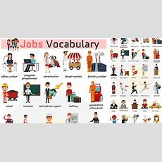 Jobs Vocabulary & Job Names With Pictures  List Of Professions  7 E S L