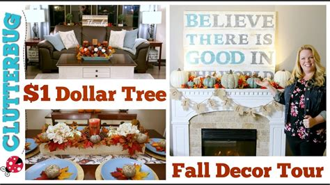 1 Dollar Home Decor : Dollar Tree Fall Decor Haul & Home Tour 🍁