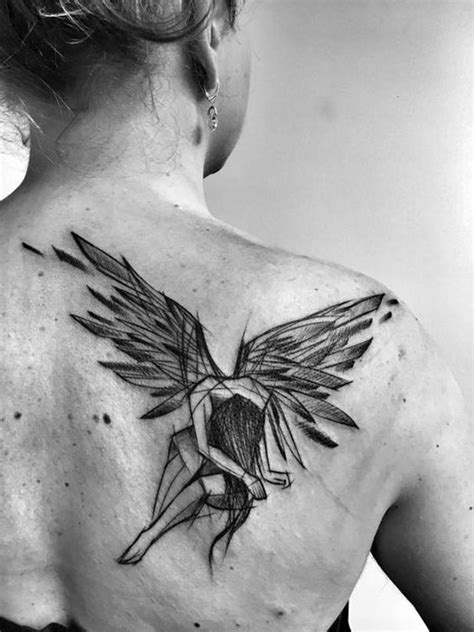 Broken Angel Tattoos | Sketch style tattoos, Angel tattoo