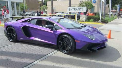 lamborghini purple and purple lamborghini aventador sv w hard acceleration