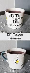 Tasse Selbst Bemalen : diy individuelle tassen bemalen zum verschenken diy geschenkideen pinterest tassen ~ Watch28wear.com Haus und Dekorationen