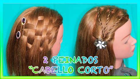 PEINADOS FACILES PARA CABELLO CORTO 2 EASY HAIRSTYLES