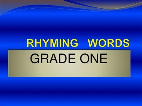 rhyming words ppt for grade 1 rhyming words slideshare