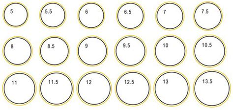 ring size template jewelry sizing guide