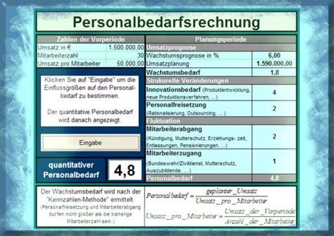quantitativer personalbedarf berechnen anger