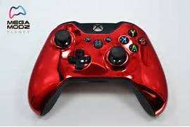 Chrome Red Xbox One Modded Rapid Fire Controller  Xbox 360 Controller Red Chrome