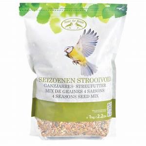 Graines De Tournesol Pour Oiseaux : mix de graines 4 saisons pour oiseaux 1kg ~ Dailycaller-alerts.com Idées de Décoration