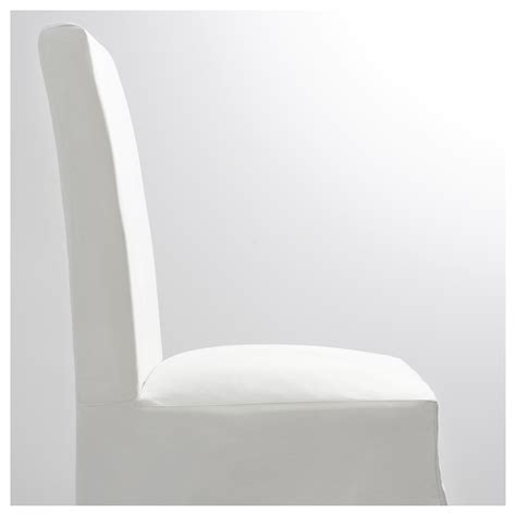 henriksdal chair with long cover brown blekinge white ikea