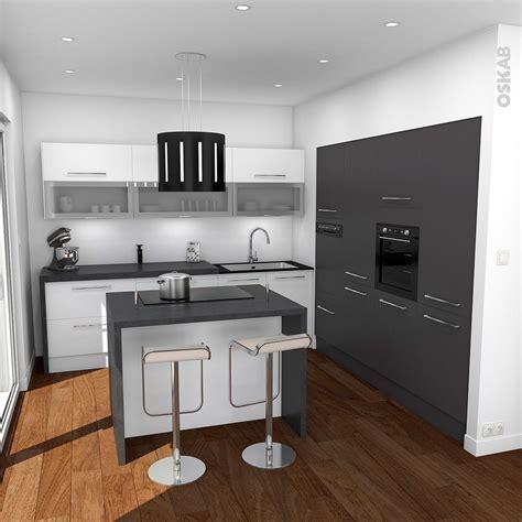cuisine avec ot central cuisine design avec ilot central blanche et grise oskab