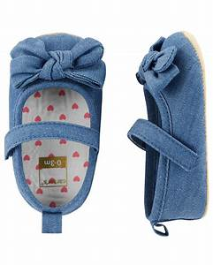 Carters Baby Size Chart Carter 39 S Chambray Mary Baby Shoes Carters Com
