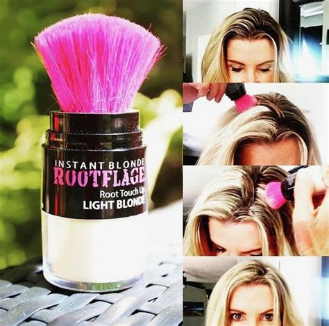 rootflage light blonde temporary root touch  hair powder