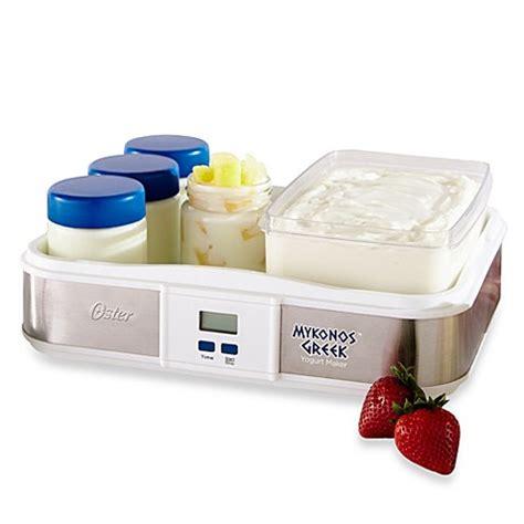 yogurt makers oster 174 mykonos large digital greek yogurt maker bed bath beyond