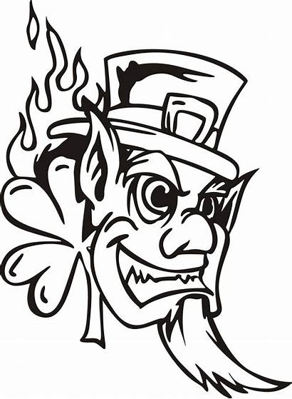 Leprechaun Evil Tattoo Drawing Scary Owl Clipart