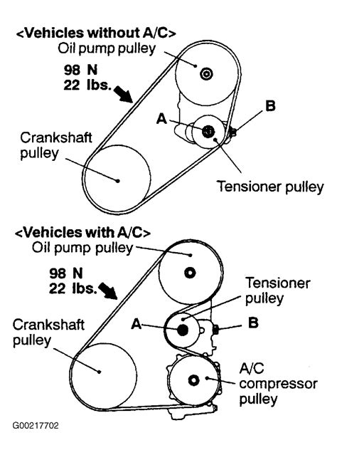 Mitsubishi Belt Diagram by 2000 Mitsubishi Galant Serpentine Belt Routing And Timing