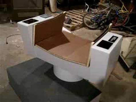 trek tos captains chair replica swivel test