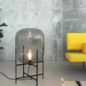 Lampe De Sol : lampe de sol oda medium verre fum gris h85cm pulpo ~ Dode.kayakingforconservation.com Idées de Décoration