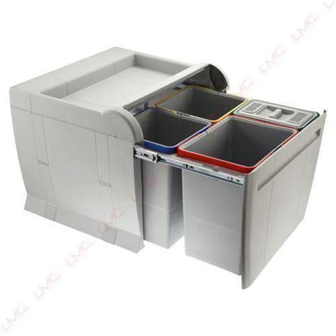 poubelle de tri cuisine poubelles à tri sélectif de cuisine coulissante ou en inox