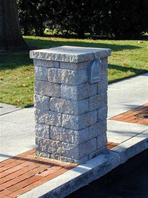 brick l post designs paver block mailbox home ideas pinterest them posts