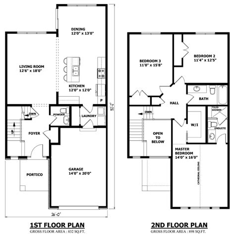 modern home floorplans minimalist two floor layout floor plans