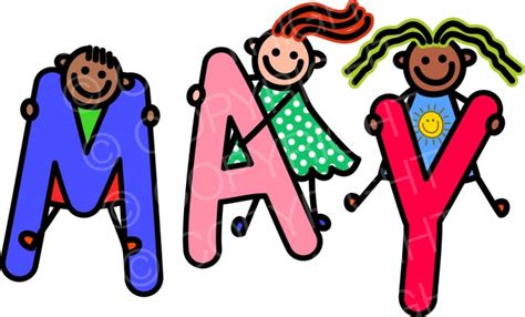 May Clip Month Of May Clipart