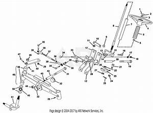 Gravely 50125 20hp  With Hydraulic Lift Parts Diagram For