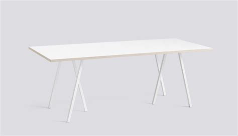 loop stand table white      white laminate