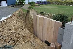 muret de soutenement chene la triskeline With muret de soutenement jardin