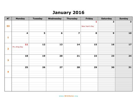 january  calendar wikidatesorg