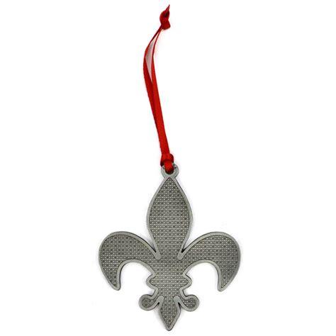 fleur de lis swirls metal ornament orn fdl