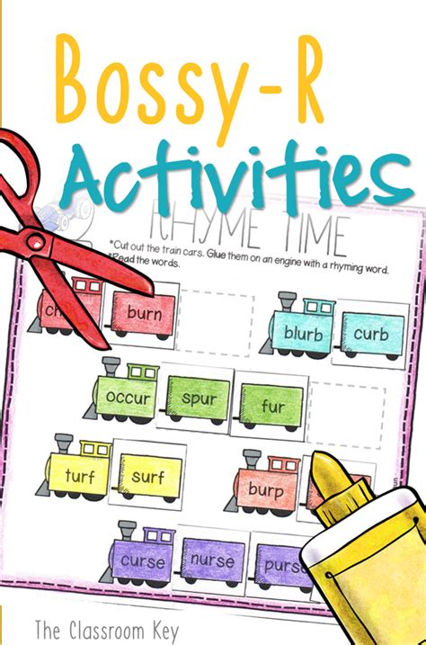 bossy r controlled vowels activity worksheets 1st or 2nd
