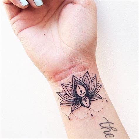 lotus tattoo wrist ideas  pinterest lotus