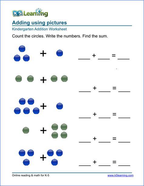 Math Worksheets Free Free Preschool Kindergarten Simple Math Worksheets Printable K5 Learning