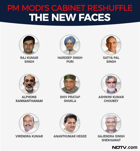 List Of Current Cabinet Ministers by Cabinet Reshuffle Nirmala Sitharaman Gets Defence Piyush