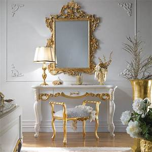 High End Italian Dressing Table And Mirror Set Juliettes