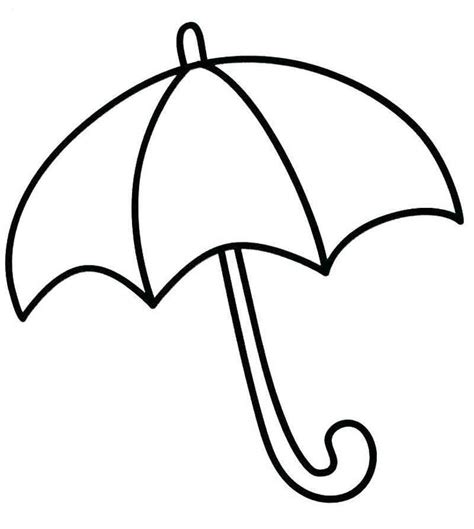 umbrella coloring page  preschoolers  images