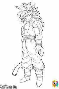 Goku Super Saiyan 4 Coloring Page