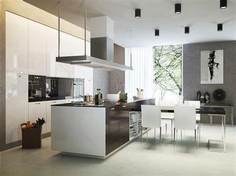 Moderne Küchenform Mit Viel Platz