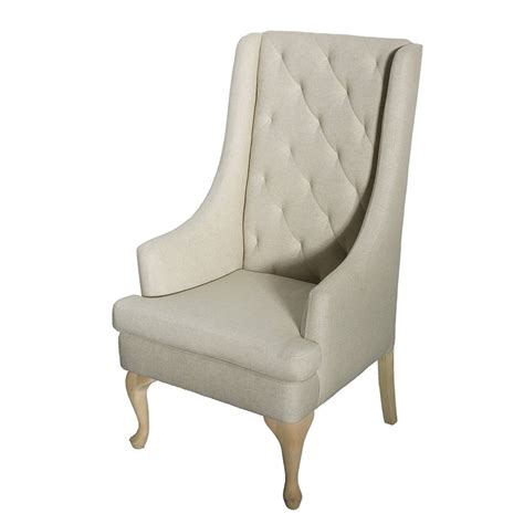 Back Chair by Oatmeal High Back Wing Chair N 252 Age Designs
