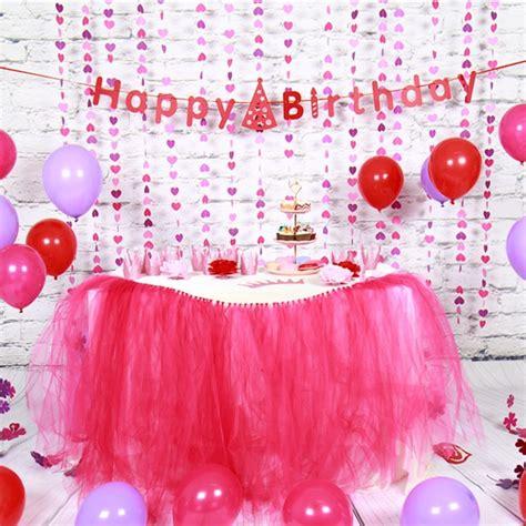 sunbeauty set pink theme happy birthday decoration diy