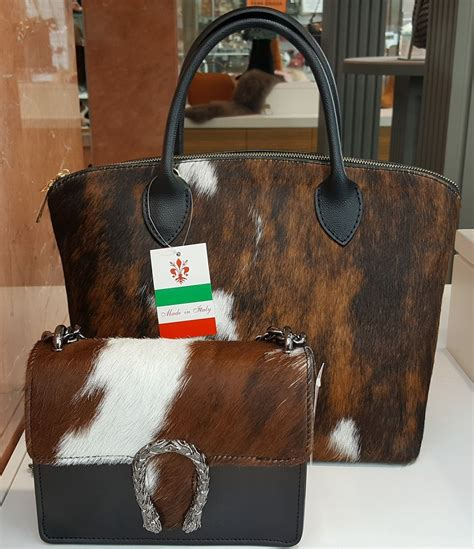 Cowhide Leather Handbags by Cowhide Fur Handbags From Spain Your Purse Source