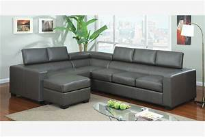 modern gray leather sectional sofa couch reversible chaise With adjustable sectional sofa with reversible chaise