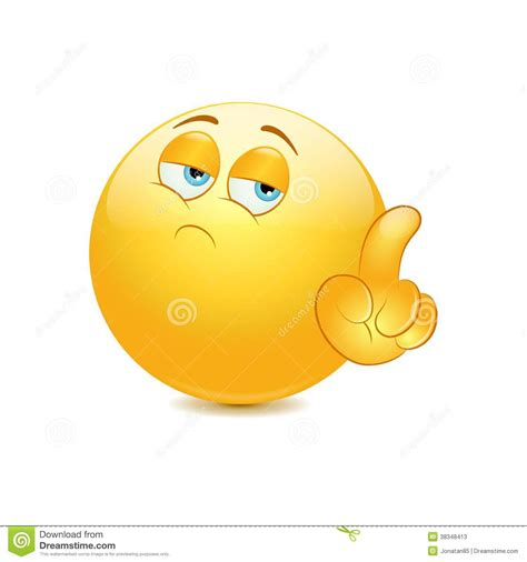Emoticon Saying No With His Finger Stock Vector