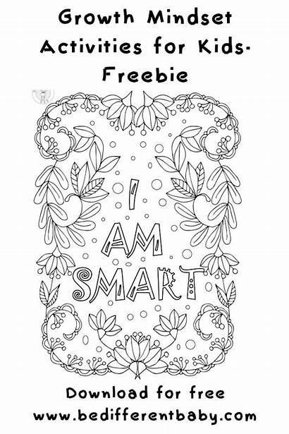 Coloring Growth Mindset Positive Talk Self Bedifferentbaby