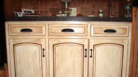 HOW TO : Distress Wood Cabinets   YouTube