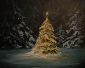 oh christmas tree painting by richard klingbeil