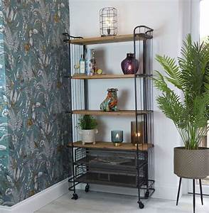 Industrial, Shelving, Unit, On, Wheels, In, New, Furniture