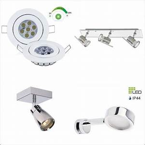 spot led extra plat salle de bain stunning spot led salle With carrelage adhesif salle de bain avec plafonnier led dimmable