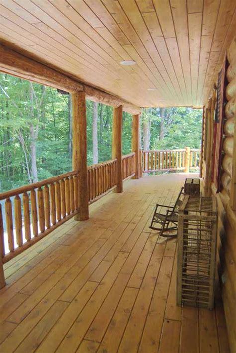 rustic wood stairs  railings cedar pine staircases