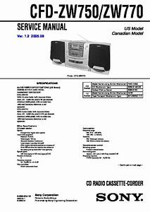 Sony Cfd-zw700  Cfd-zw705 Service Manual